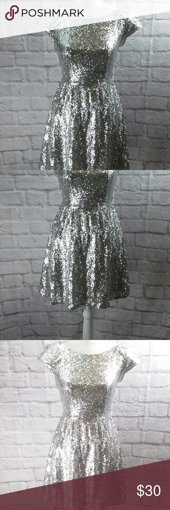 Bsmart womenus dress prom formal silver sequin bsmart womenus
