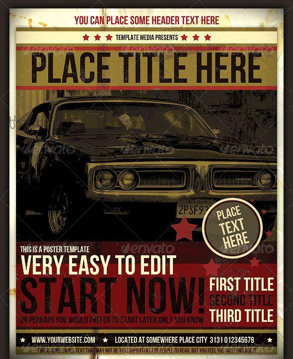 Retro  Vintage Psd Flyer Templates  Psd Flyer Templates