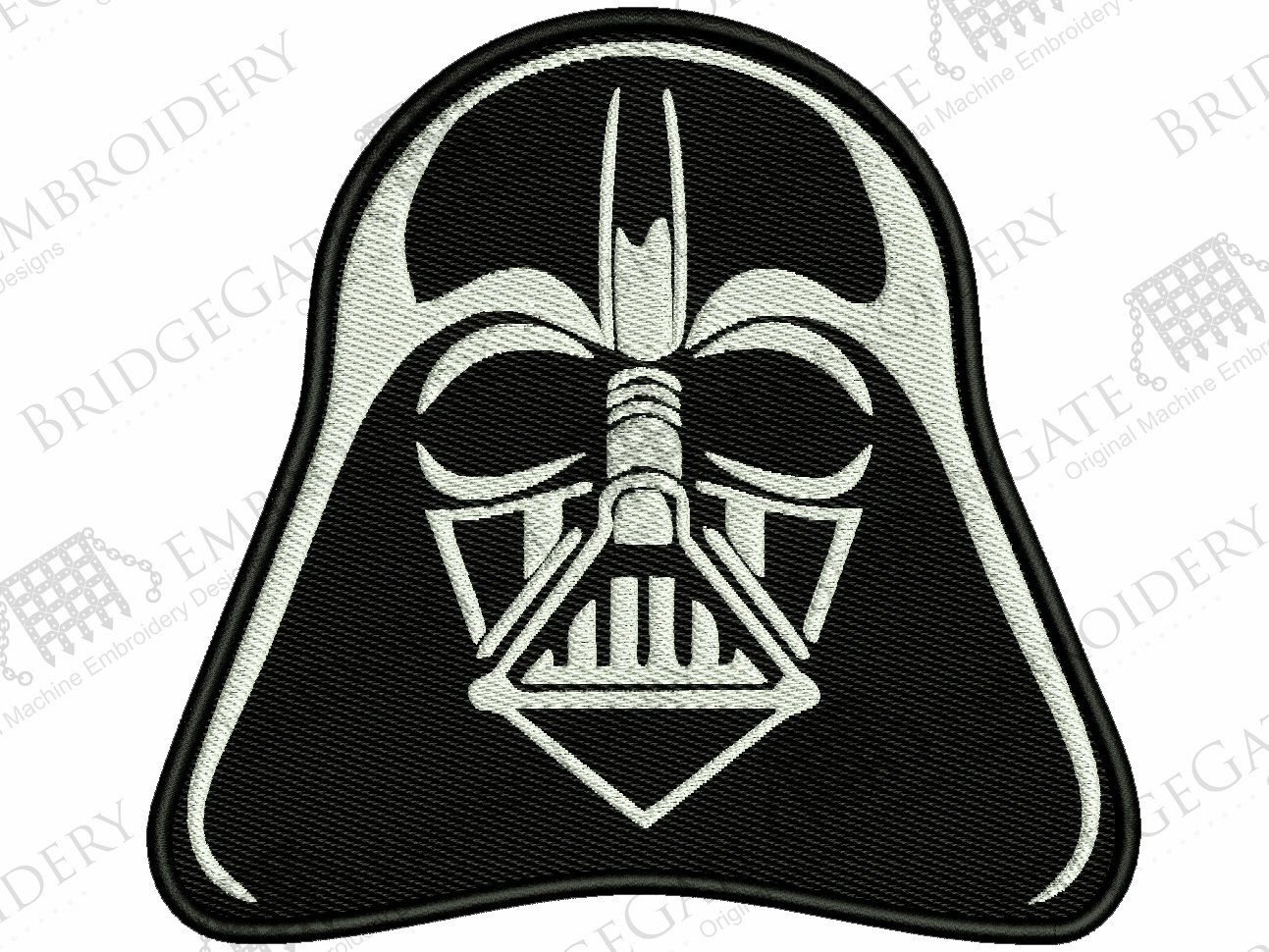 Darth Vader Star Wars Embroidery Design 10 File Formats 8 Sizes Digital File Instant Download