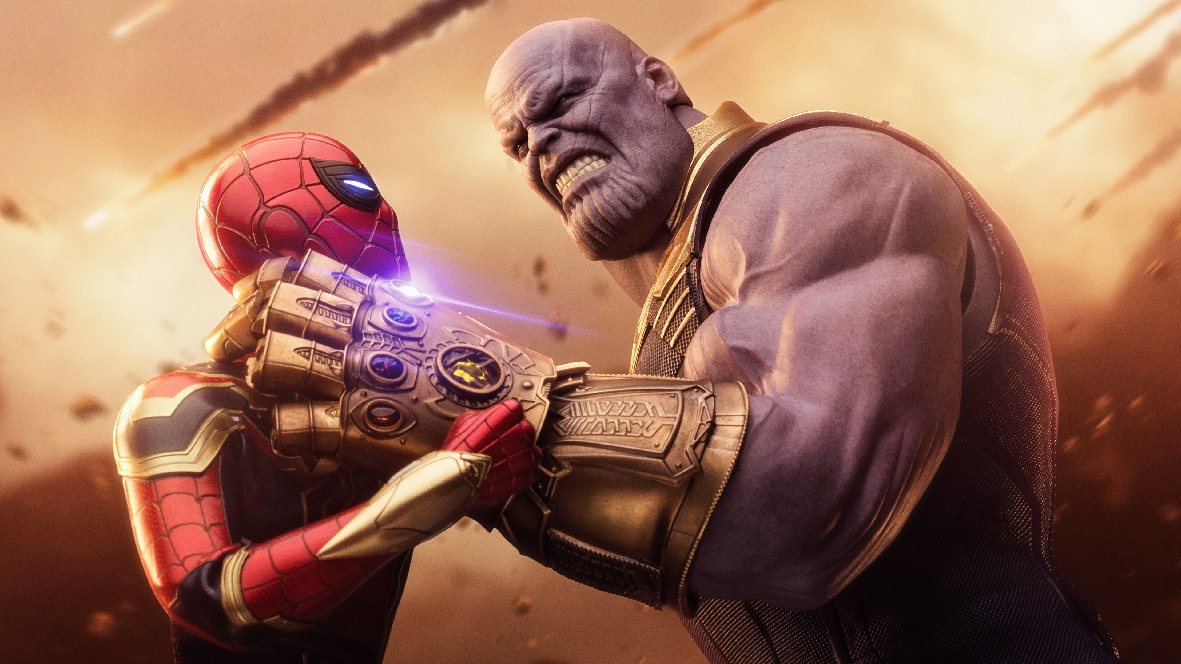 Wallpaper 4k Spiderman Thanos Avengers Infinity War 4k 4k