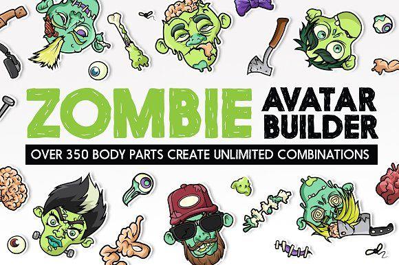 zombie avatar builder by serkworks art labs on creativemarket