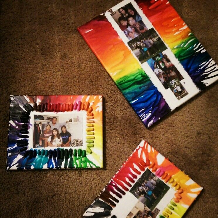 Melted Crayon Picture Frame Idea Crafty Ideas Pinterest Frames