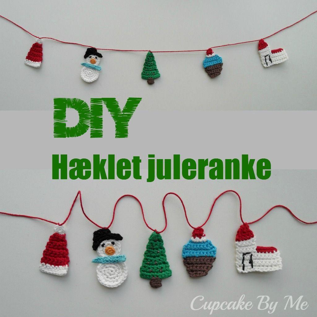 Cupcake By Me ©: DIY - Crochet Christmas garland   navidad ...