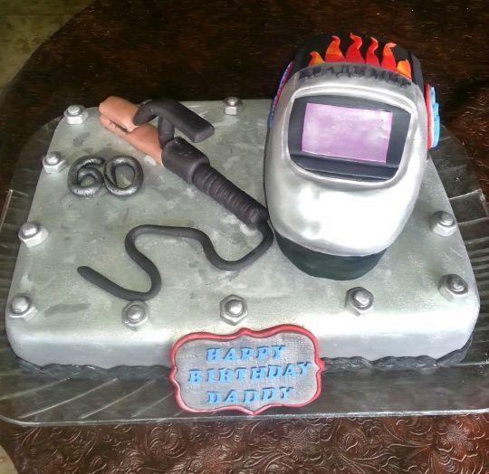 Dads Birthday Welder Cake In 2019 Dad Birthday Birthday