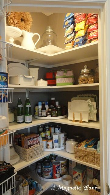 Corner pantry redo with solid shelving from