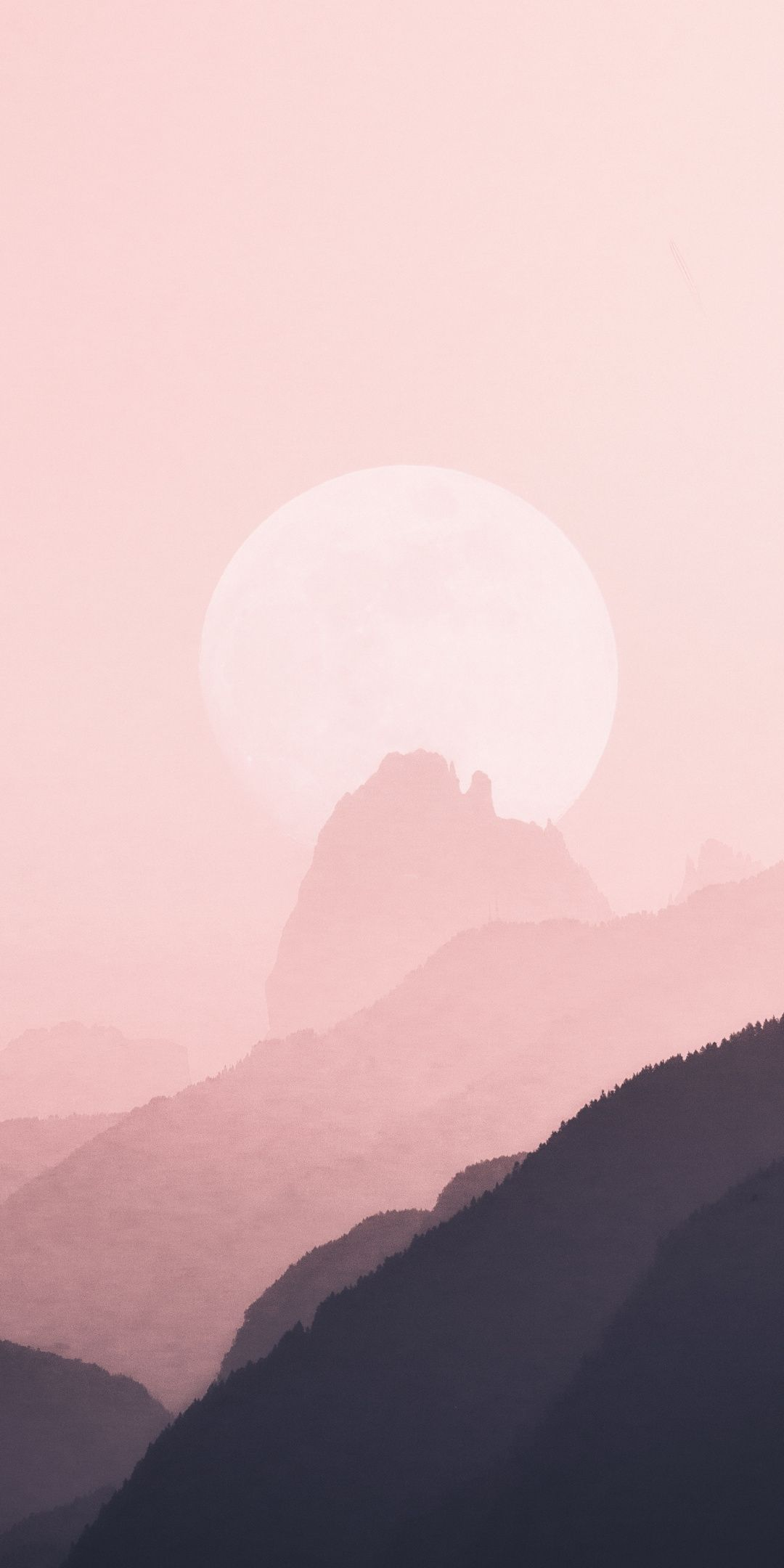 1080x2160 Minimal Horizon Nature Mountains Silhouette Wallpaper Iphone Wallpaper Mountains Minimal Wallpaper Ipad Pro Wallpaper