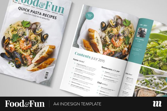 Food&Fun Magazine InDesign Template by Mate Toth on Creative ...
