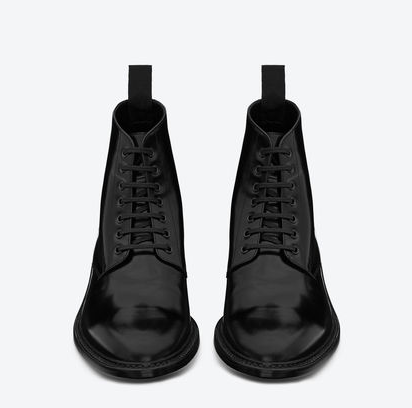 c1c3e7a5ac love these YSL army lace up boots | fire | Black lace up boots ...