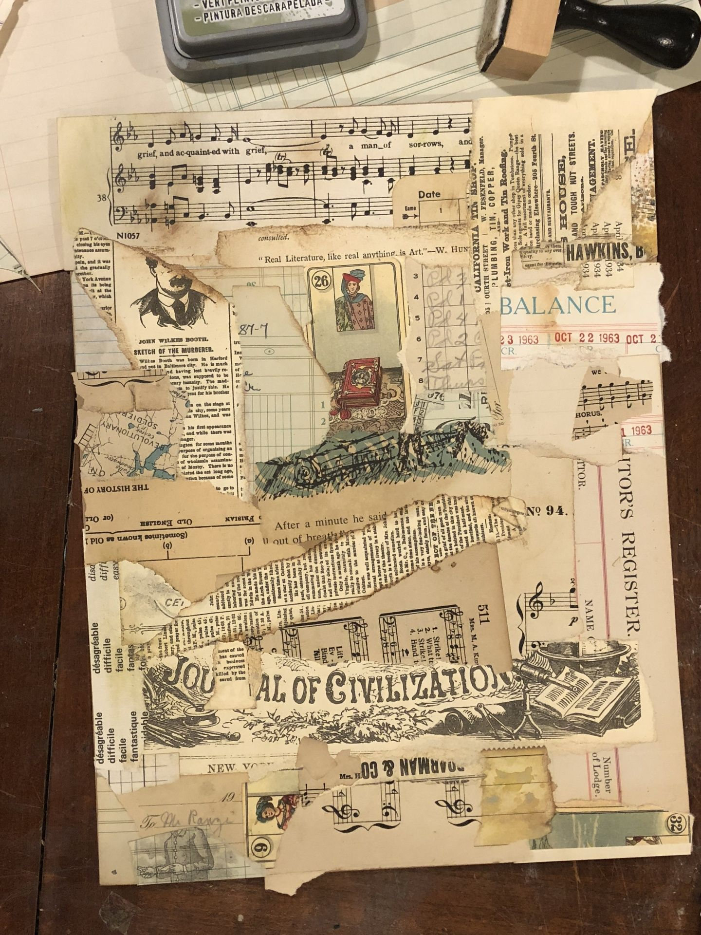 Img 7327 Mixed Media Art Journaling Art Journal Techniques Paper Collage Art