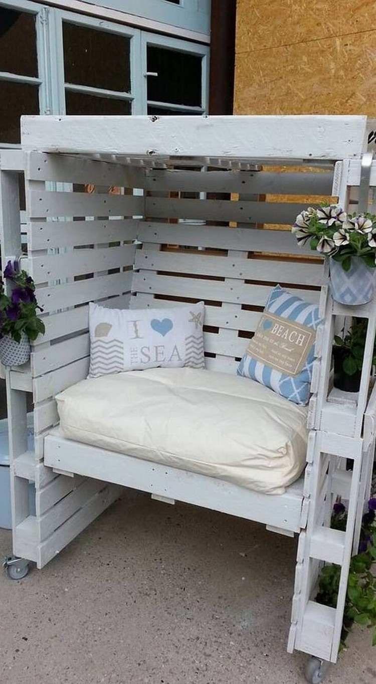 salon de jardin en palette idée très sympa #jardin #garden