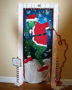 contest decorating door holiday office cartoon the overall winner of the dorm decorating contest was the grinch door