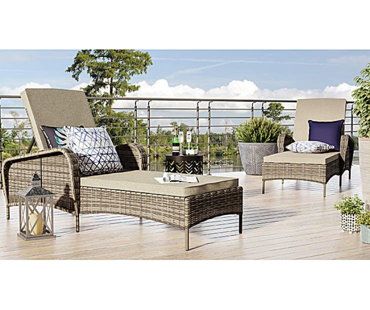 Wilson Fisher Lakewood Small Space Lounge Chairs At Big Lots Small Spaces Outdoor Furniture Sets Lounge Chair
