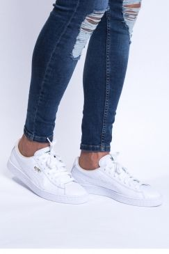 the best attitude 979be b50c3 Heritage Basket Classic Trainers - White/White | vie ...