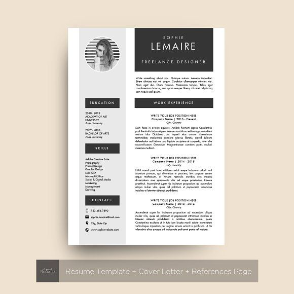 Resume Template Ms Word Sophie Resume Template Resume Design Template Creative Resume Templates