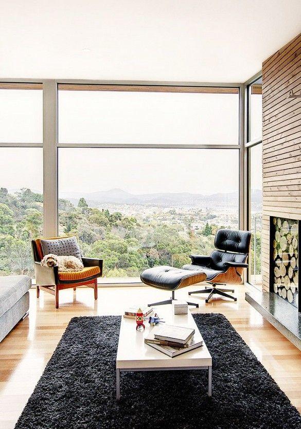 Eames Lounge Chair + Ottoman (c. 1956) / via Domaine Home