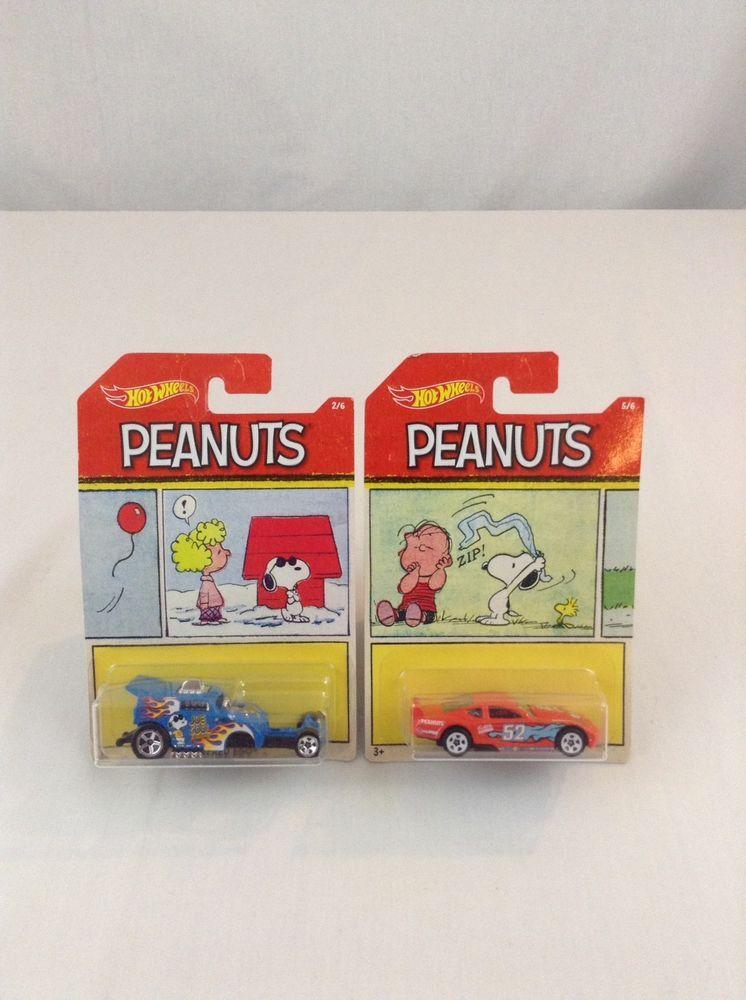 6b70682732 New Lot Of 2 Mattel 2017 Hot Wheels Peanuts Charlie Brown Diecast 1 64 Scale  Car  HotWheels