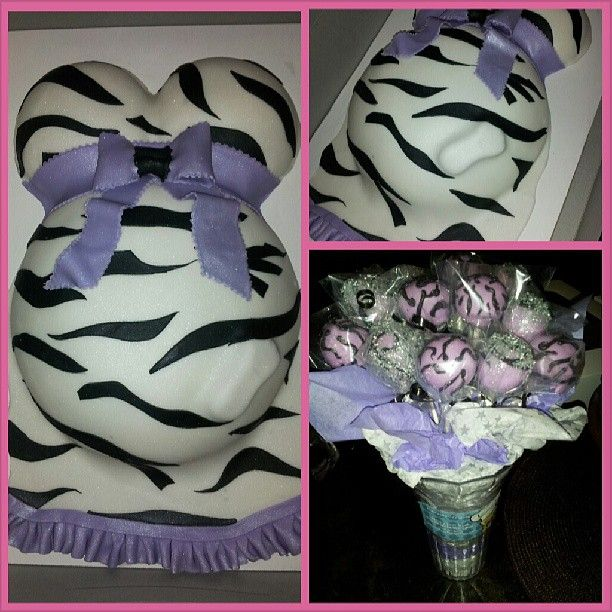 Baby Bump Cake Zebra print, Cakepops and Beans - check request form