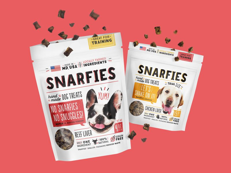 Snarfies Packaging Dog Treat Packaging Dog Snacks Packaging Design