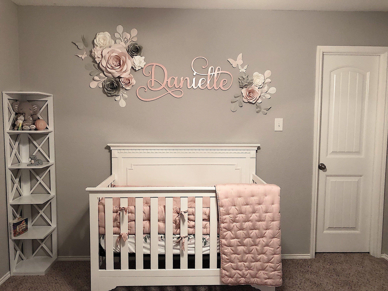 Nursery Wall Art Paper Flower For