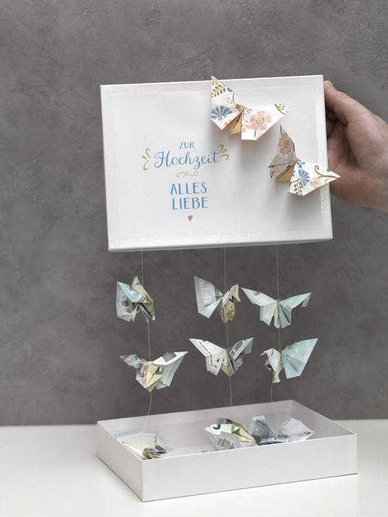 Schmetterlinge Aus Geld Falten Aaa Crafts Gifts Diy Pinterest
