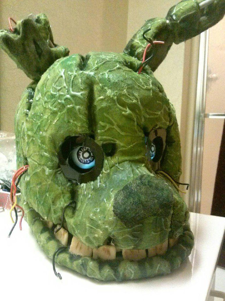 Fnaf freddy head for sale - Finished Springtrap Head By Raigr