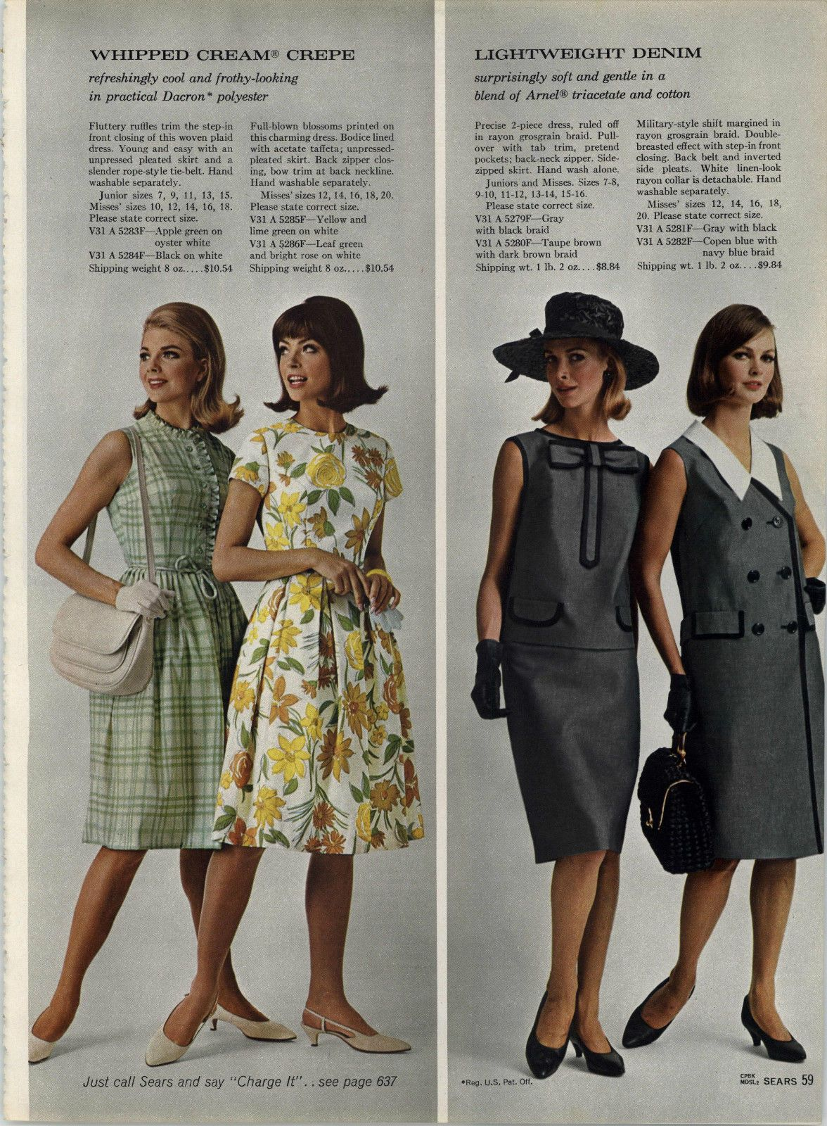 SEARS 1965 SPRING SUMMER mail order catalogue ON DVD PDF