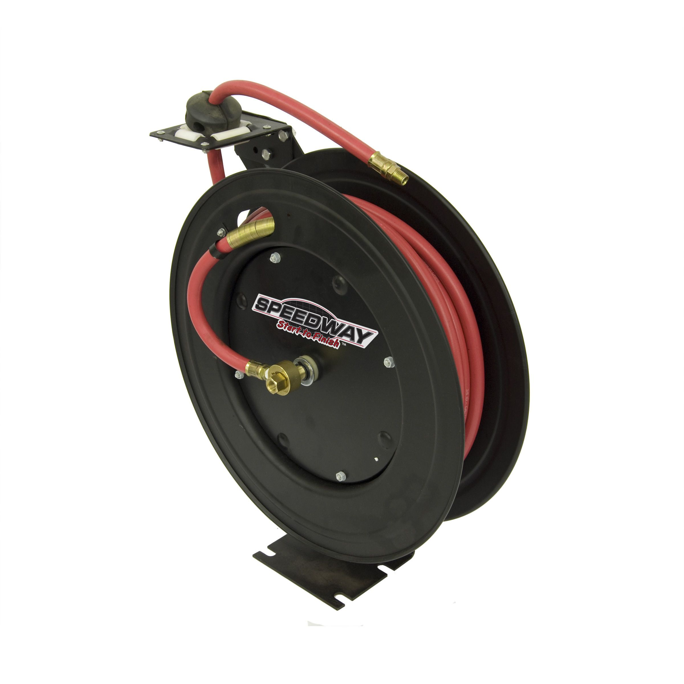 Speedway Retractable Air Hose Reel with 3/8 inch x 50 ft
