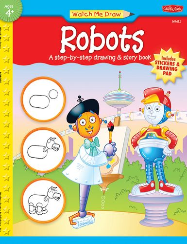 Robots Art Projects Drawings Step By Step Drawing Books