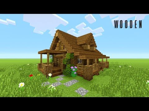 Minecraft How To Build Wooden House Rustic Youtube Minecraft Farm House Minecraft Farm Minecraft Wooden House