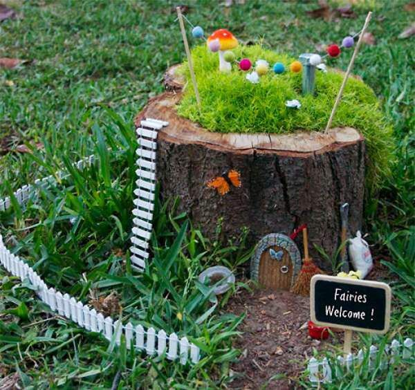 Charming Amazing Ways To Transform Tree Stump Into Home Decoration Items