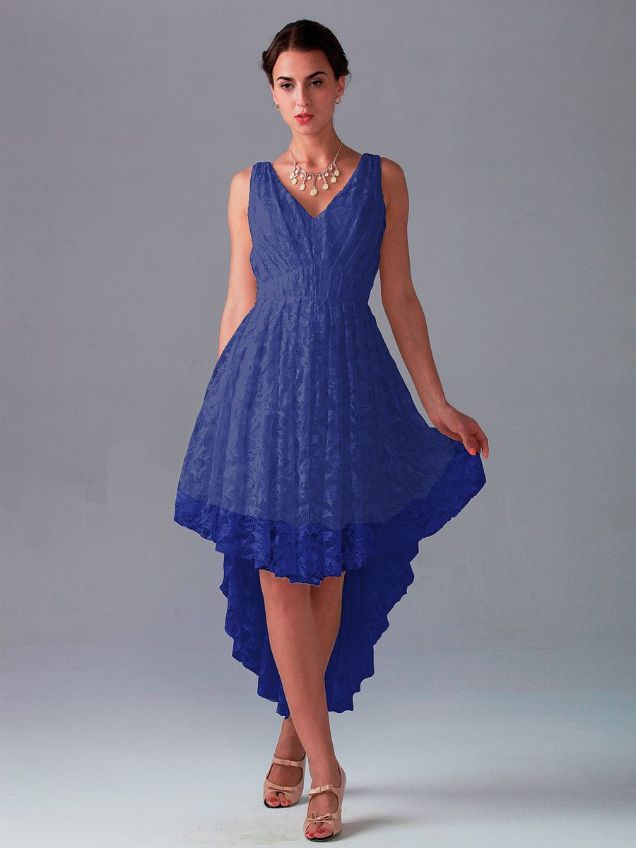 Pin to Win a Wedding Gown or 5 Bridesmaid Dresses! Simply pin your favorite dresses on www.forherandforhim.com to join the contest! | High-low Lace dress  $229.99