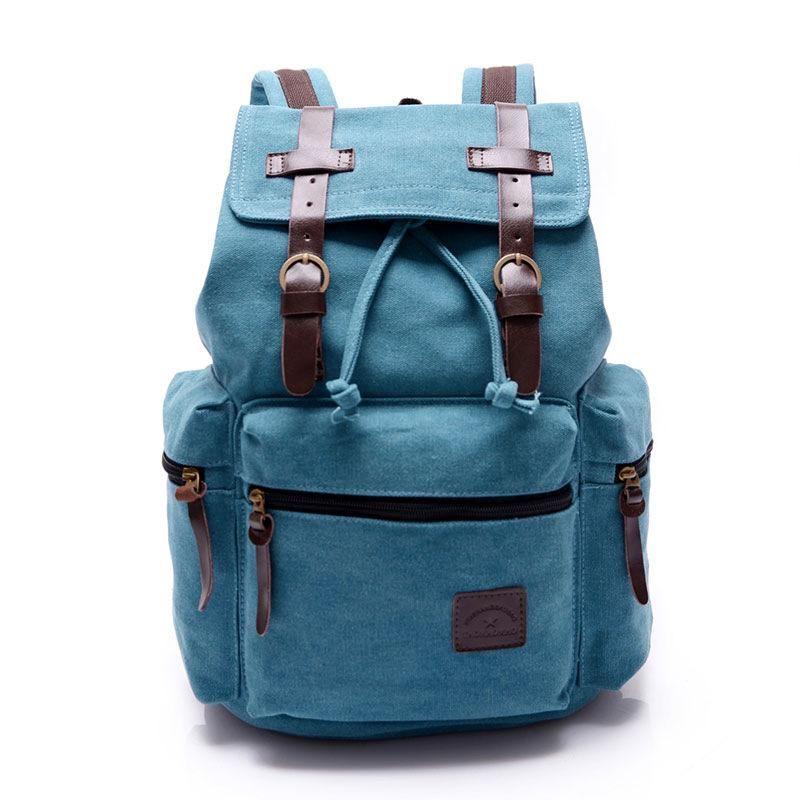 Photo of Luggage&Bags Women Men Canvas Backpacks Schoolbags for Girls Boys Teenagers Casual Travel Laptop Bags Rucksack mochila