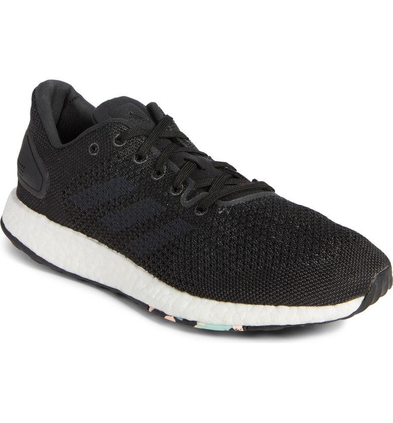 Mens Adidas PureBOOST BA8893 White Grey Trainers | eBay