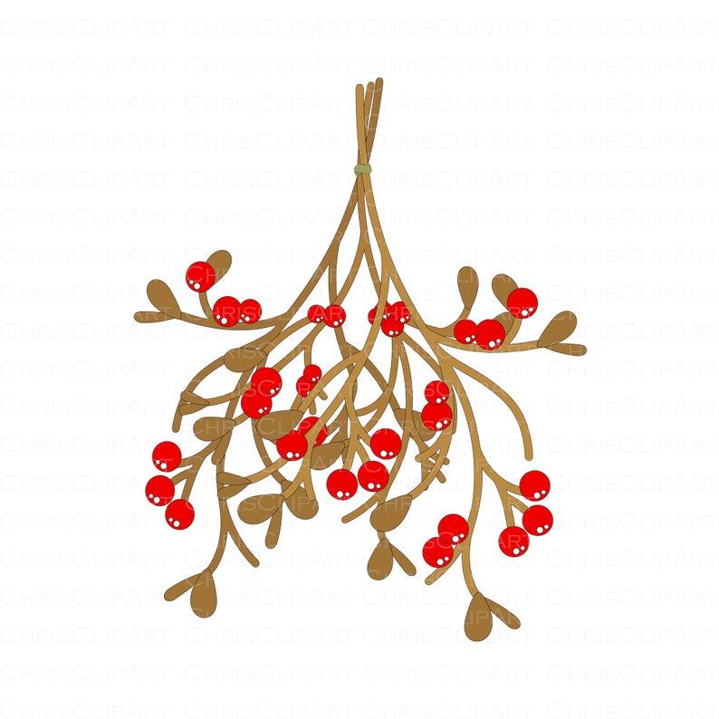 Mistletoe Clipart Mistletoe Svg Mistletoe Png Clip Art Etsy Mistletoe Clipart Clip Art Mistletoe
