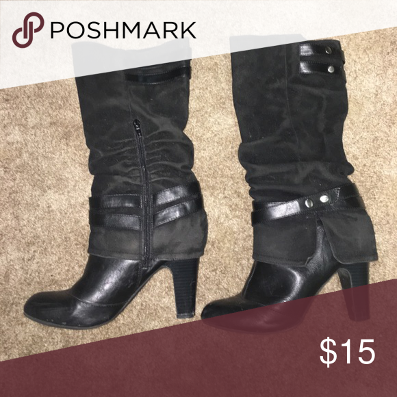 Dress boots Gotta love the details on these cute boots Fergalicious Shoes Heeled Boots