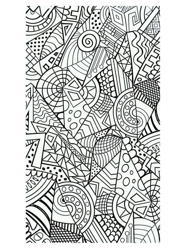 Harmonious Geometric Intricate Design Difficult Coloring Pages Letscolorit Com Mandala Coloring Pages Mandala Coloring Books Stress Coloring