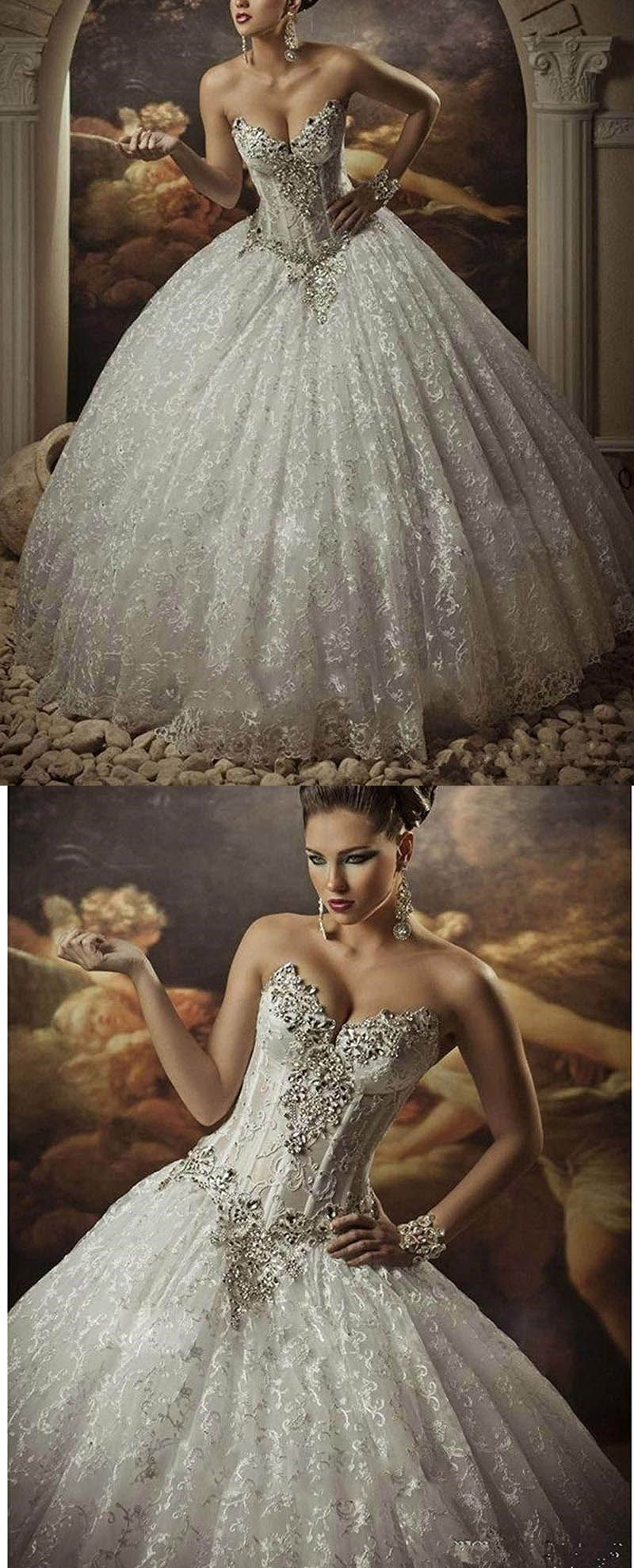 Gothic style wedding dresses  Gothic Style Corset Ball Gown Lace Wedding Dresses Sweetheart Beaded