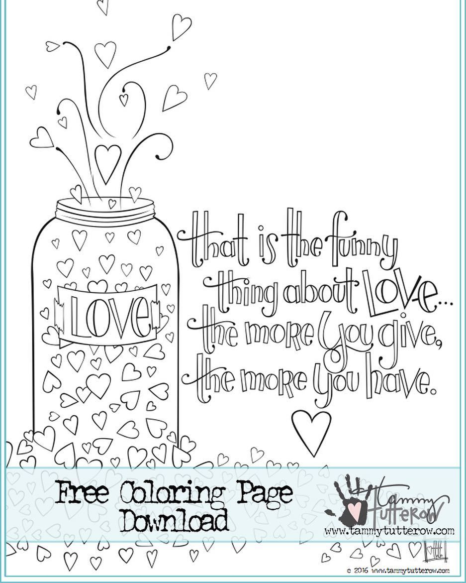 I Am Sharing A Free Coloring Page On My Blog Today It Is All About Sharing Love And Kindness Printable Coloring Book Free Coloring Pages Coloring Book Pages