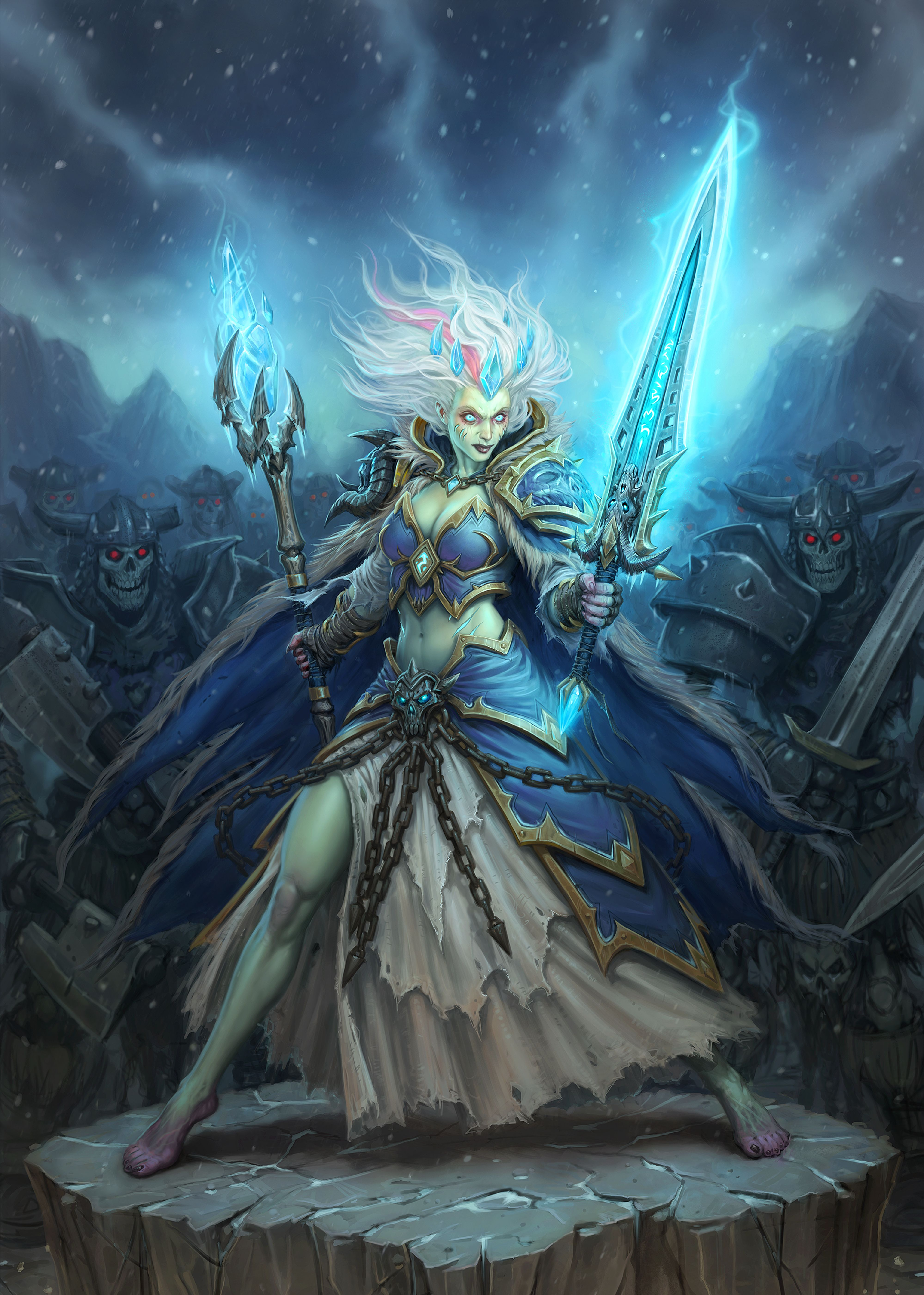 Frost Lich Jaina Gaming Poster Print Metal Posters In 2020