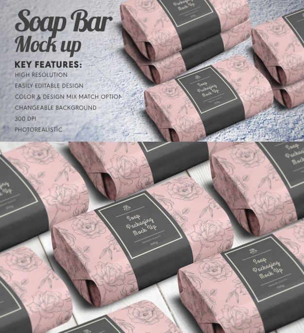 Download Freepik Graphic Resources For Everyone Packaging Mockup Bar Soap Graphic Resources