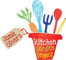 Welcome to Jamie Oliver's Kitchen Garden Project:  We're cooking up a new food education programme for primary school children. We'll help schools build the facilities and provide the training and resources they need to teach children the joys of growing and cooking their own food, in the hope of planting a seed for positive eating habits that will last a lifetime.