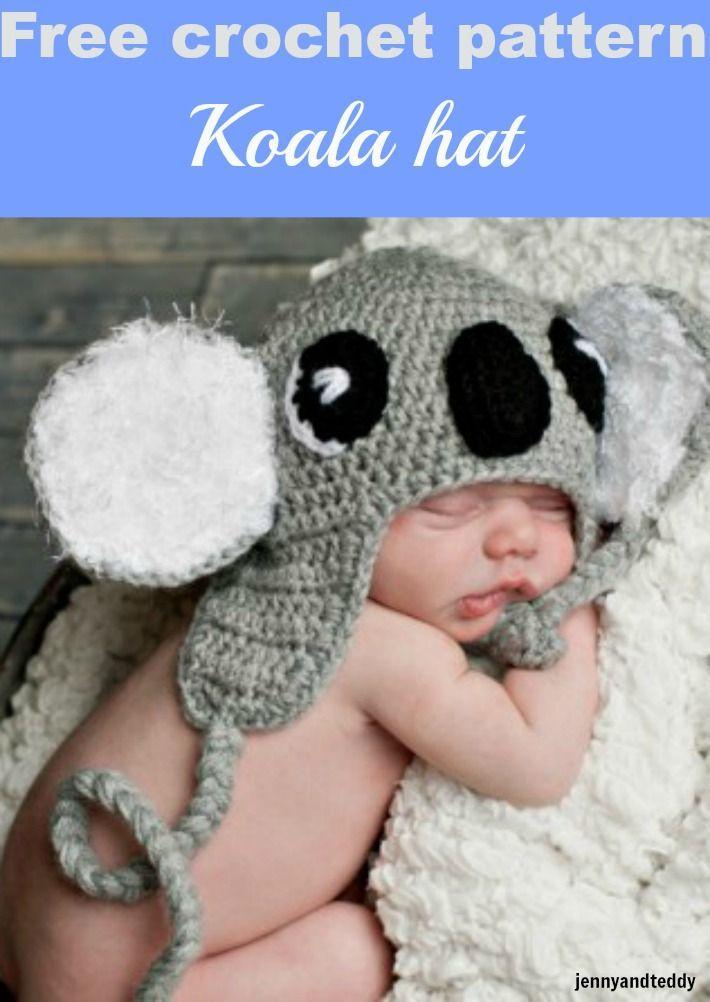 koala crochet hat-free pattern | Crafts and More | Pinterest
