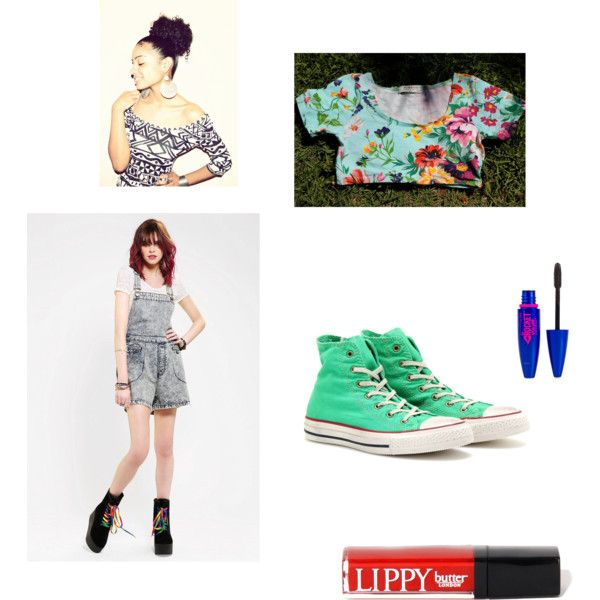 Hip Hop Class 6 by jmv555 on Polyvore featuring Bitching & Junkfood, Converse, Butter London and Maybelline