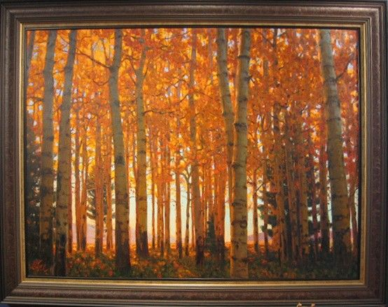September Aspens by Todd Matson at Lewis Art Gallery - SOLD