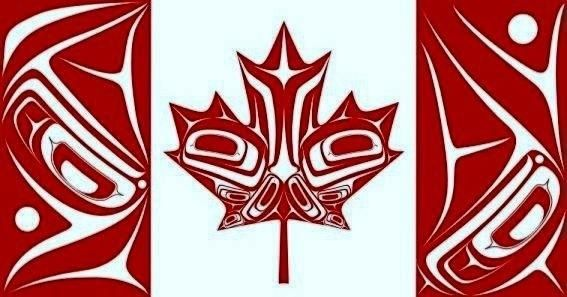 indian design canadian flag not official but looks cool