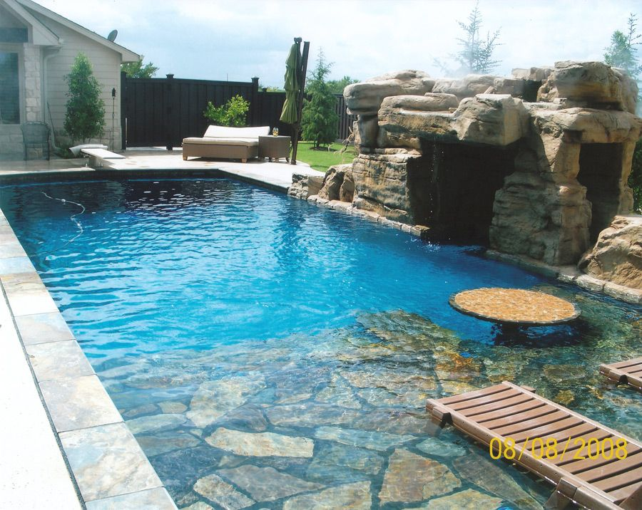 Gunite pool designs pool shape swimming pool design for Poolside ideas