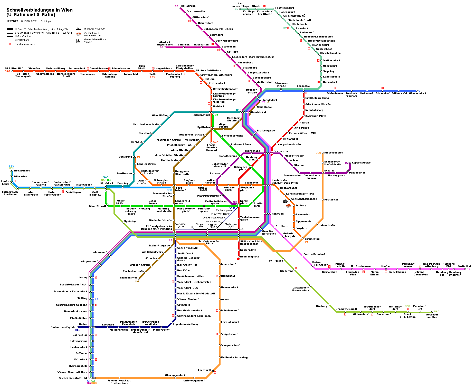 Subway Map Vienna Austria.Underground U Bahn S Bahn Wien Vienna Austria Osterreich