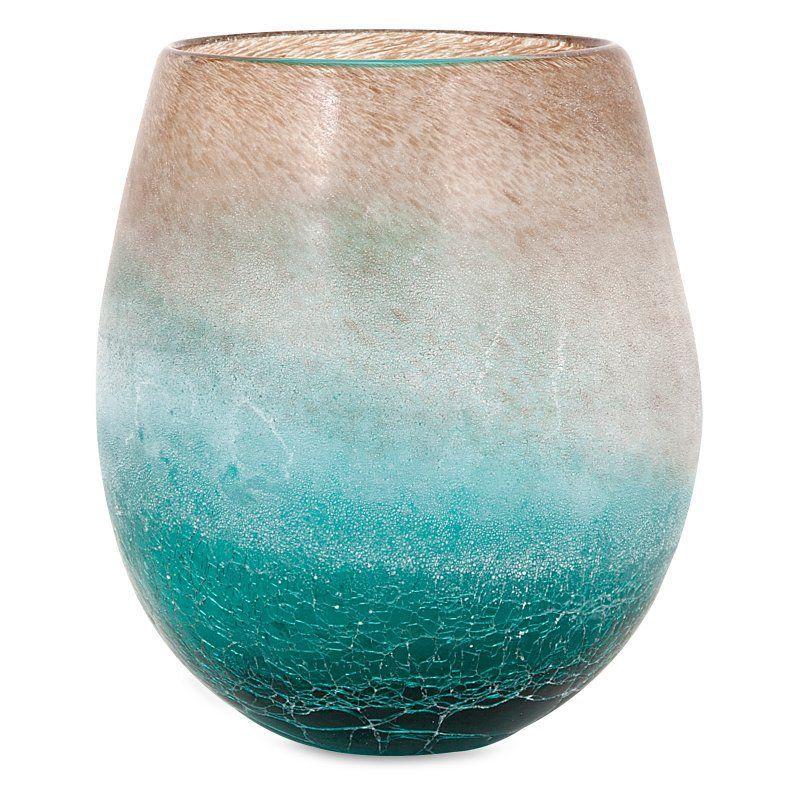 IMAX Luna Short Glass Vase - 89351