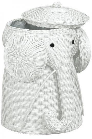 Elephant Hamper: @ Divya Silbermann, Also available in honey and brown. On sale $63. #Elephant_Hamper #Laundry_Hamper