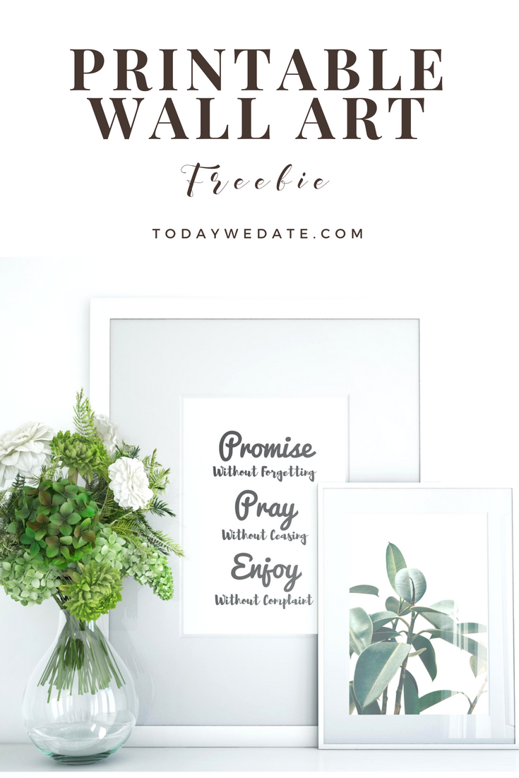 Love quote wall art set - Free download- todaywedate com printable